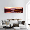 Grand Teton Mountain And Jackson Lake Panoramic Canvas Wall Art Tiaracle