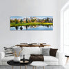 Grand Teton Range In US Rockies Panoramic Canvas Wall Art 1 Piece / Small Tiaracle