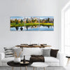 Grand Teton Range In US Rockies Panoramic Canvas Wall Art 3 Piece / Small Tiaracle