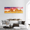Great Pyramid At Giza In Egypt Panoramic Canvas Wall Art 3 Piece / Small Tiaracle