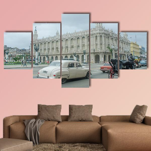 Great Theater Of Havana Multi Panel Canvas Wall Art 3 Pieces / Medium / Canvas Tiaracle