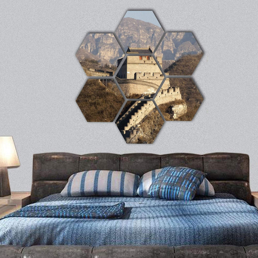 Great Wall Of China Hexagonal Canvas Wall Art 1 Hexa / Small / Gallery Wrap Tiaracle