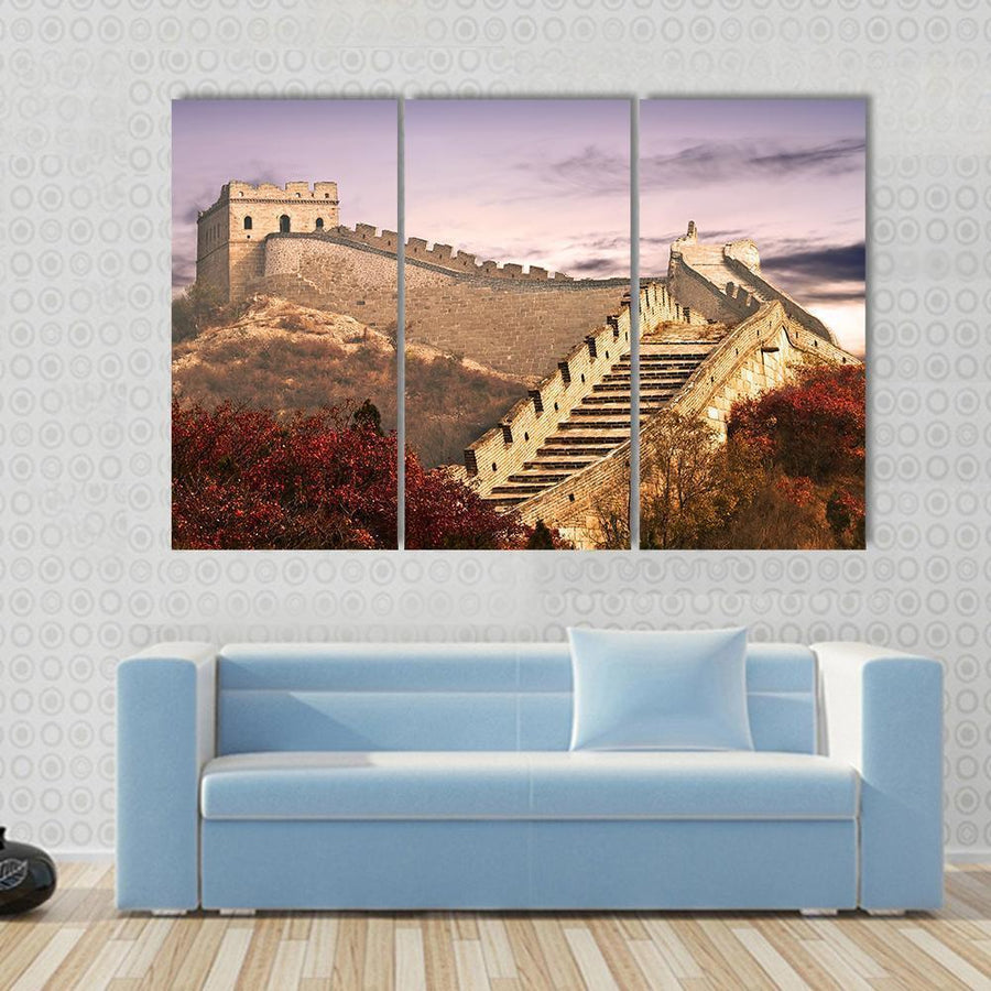Great Wall Of China In The Clouds Canvas Panel Painting Tiaracle