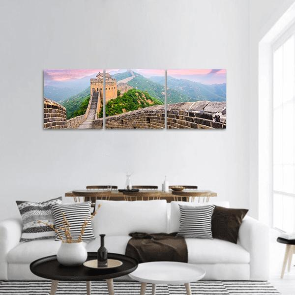 Great Wall Of China Panoramic Canvas Wall Art Tiaracle