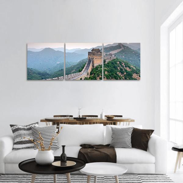 Great Wall Of China Panoramic Canvas Wall Art 1 Piece / Small Tiaracle