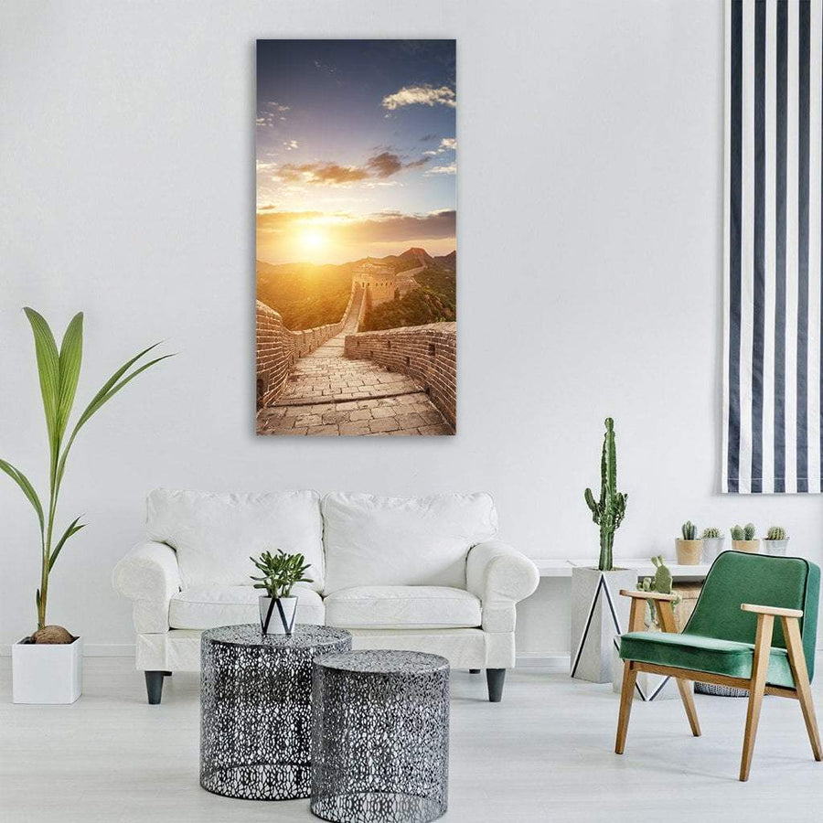Great Wall Of China Vertical Canvas Wall Art 3 Vertical / Small / Gallery Wrap Tiaracle