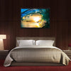 Green Ocean Wave At Sunset Multi Panel Canvas Wall Art-Tiaracle