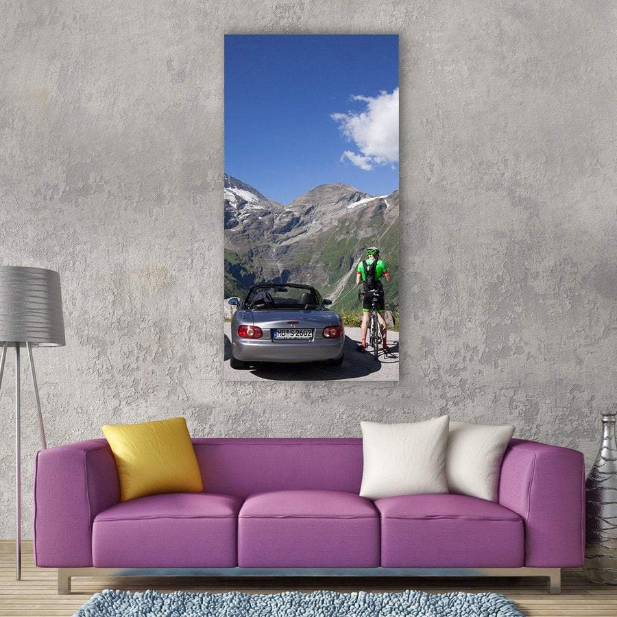 Grossglockner High Alpine Road In Austria Vertical Canvas Wall Art 3 Vertical / Small / Gallery Wrap Tiaracle