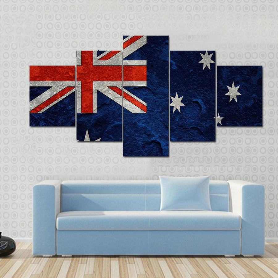 Australian Flag Canvas Panel Painting Tiaracle