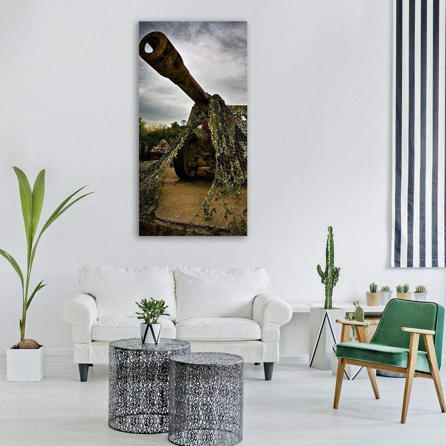 Gun For War Battle In France Vertical Canvas Wall Art 3 Vertical / Small / Gallery Wrap Tiaracle