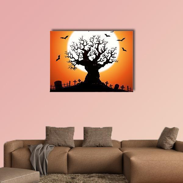 Halloween Concept Multi Panel Canvas Wall Art-5 Star-Medium-Gallery Wrap-Tiaracle
