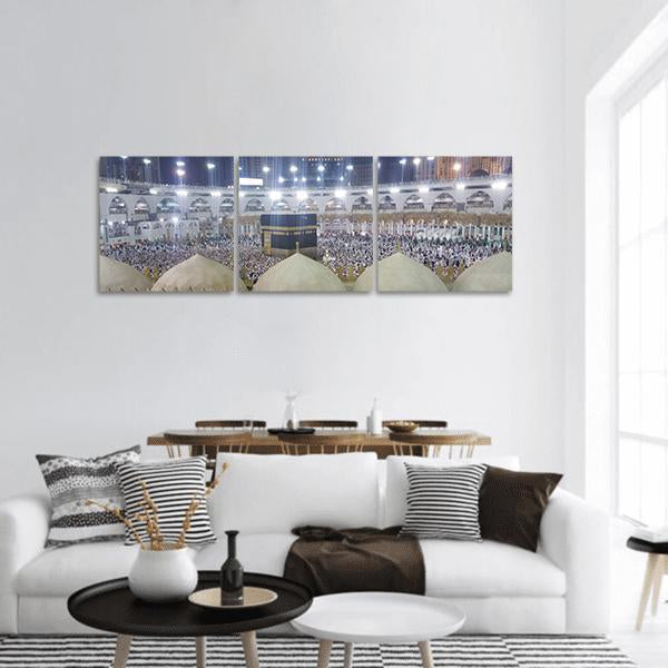 Haram Mosque In Mecca Panoramic Canvas Wall Art Tiaracle