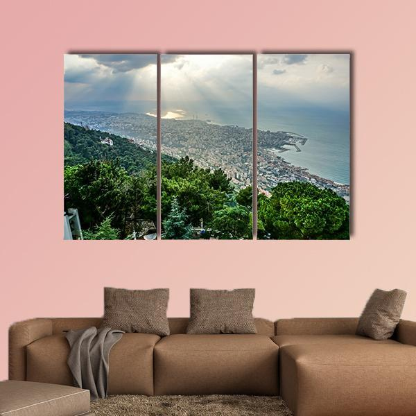 Harissa Our Lady Of Lebanon Multi Panel Canvas Wall Art 5 Pieces(A) / Medium / Canvas Tiaracle
