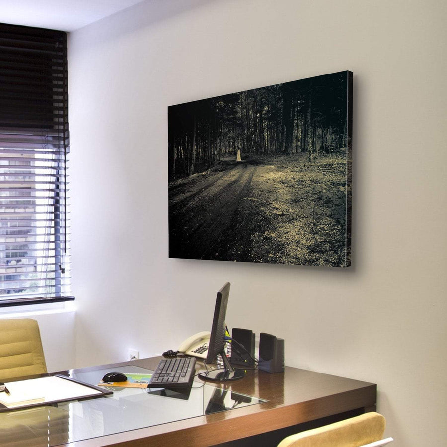 Haunted Roadside Area Canvas Panel Painting Tiaracle