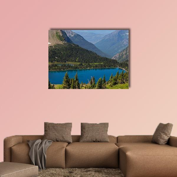 Hidden Lake In Glacier National Park Montana Multi Panel Canvas Wall Art 4 Pieces / Medium / Canvas Tiaracle