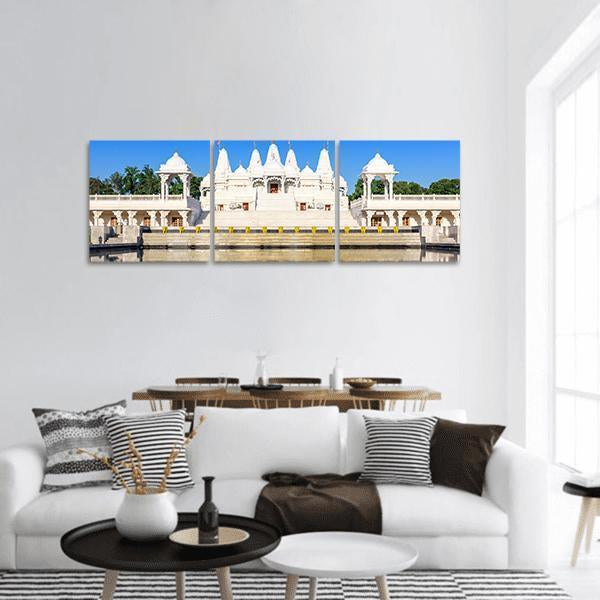 Hindu Temple In Atlanta Georgia Panoramic Canvas Wall Art 1 Piece / Small Tiaracle