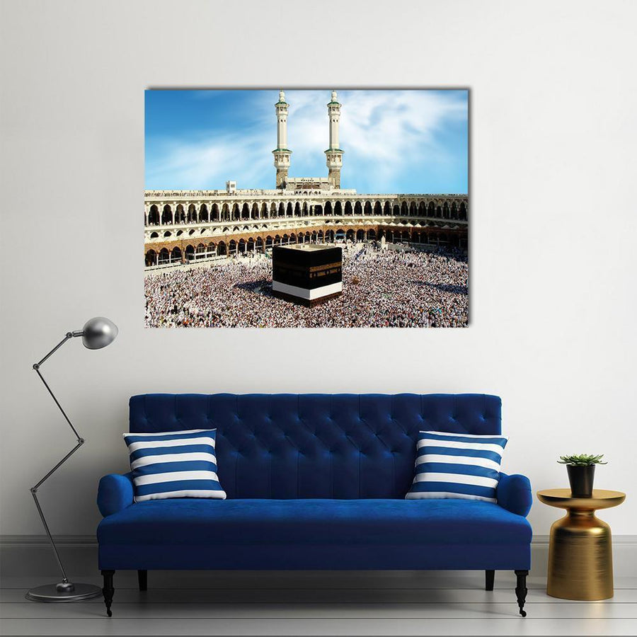 Holy Kaaba, Mecca Multi Panel Canvas Wall Art 4 Horizontal / Small / Gallery Wrap Tiaracle