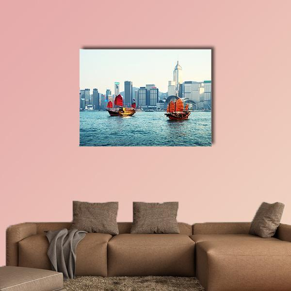 Hong Kong Harbour Multi Panel Canvas Wall Art 5 Pieces(A) / Medium / Canvas Tiaracle100587571_xl