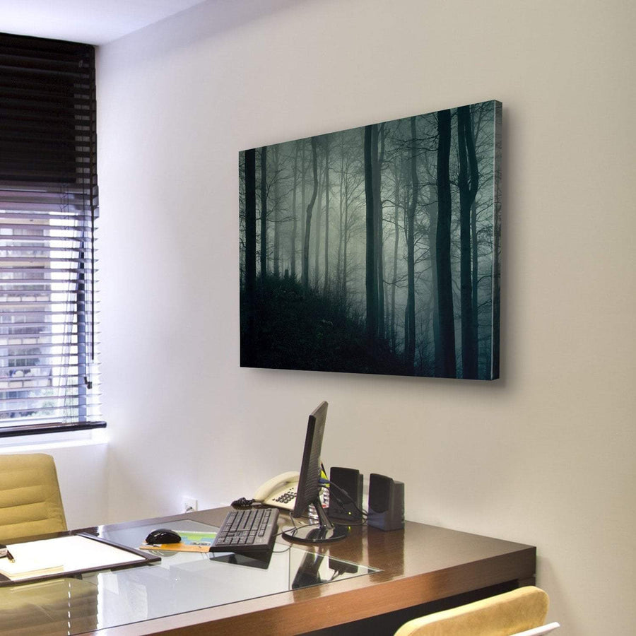 Horror Foggy Jungle Canvas Panel Painting Tiaracle