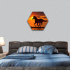 Horse Running During Sunset Hexagonal Canvas Wall Art-1 Hexa-Small-Gallery Wrap-Tiaracle