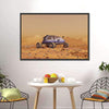 Human Vehicle On Mars Canvas Wall Art-Tiaracle