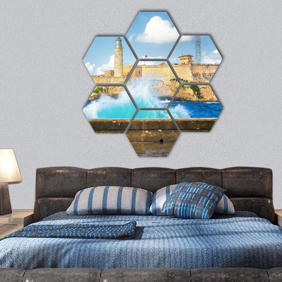 Hurricane In Havana Hexagonal Canvas Wall Art 1 Hexa / Small / Gallery Wrap Tiaracle