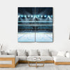 Ice Hockey Sport Arena Canvas Wall Art-4 Square-Small-Gallery Wrap-Tiaracle