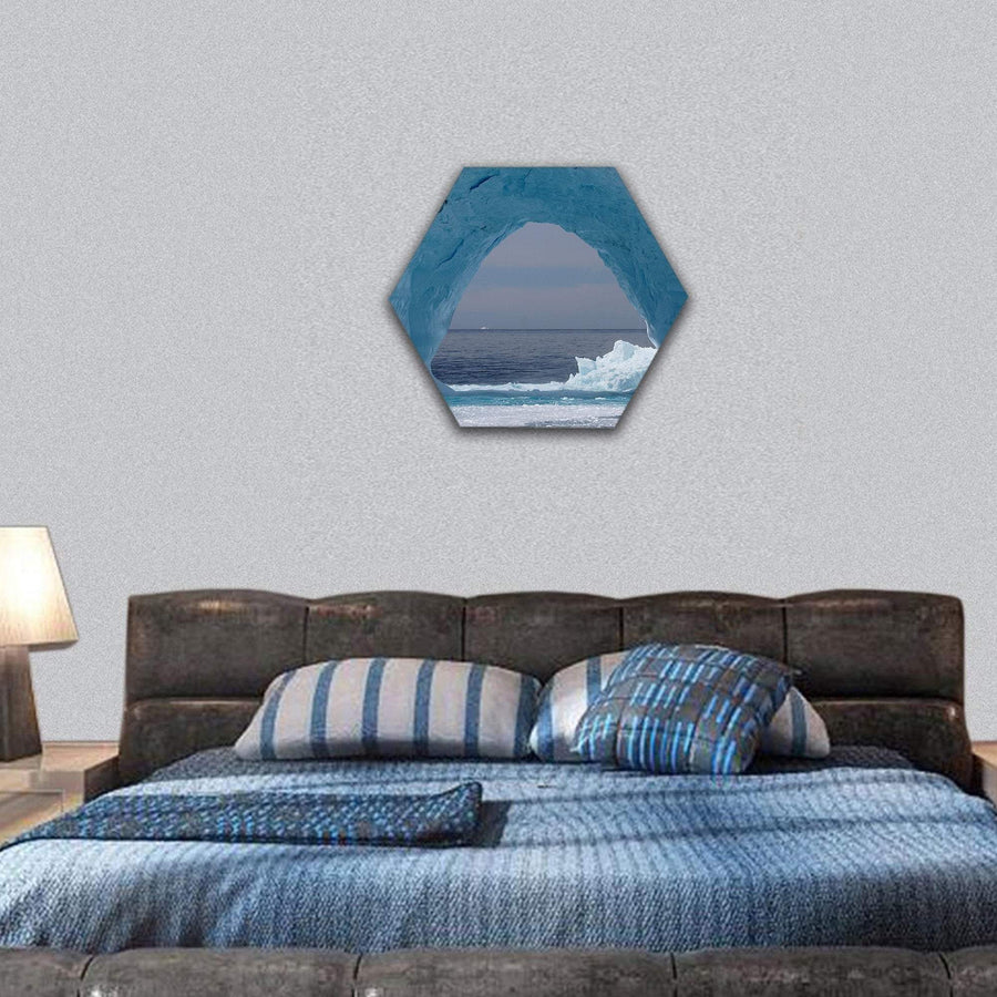 Iceberg Off The Coast Of Greenland, Atlantic Ocean Hexagonal Canvas Wall Art 7 Hexa / Small / Gallery Wrap Tiaracle