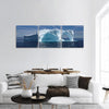 Iceberg Off The Coast Of Greenland Panoramic Canvas Wall Art 3 Piece / Small Tiaracle