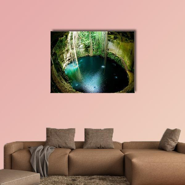Ik-Kil Cenote In Mexico Multi Panel Canvas Wall Art 5 Pieces(A) / Medium / Canvas Tiaracle