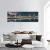 Illumintaed River View Of Budapest Panoramic Canvas Wall Art Tiaracle