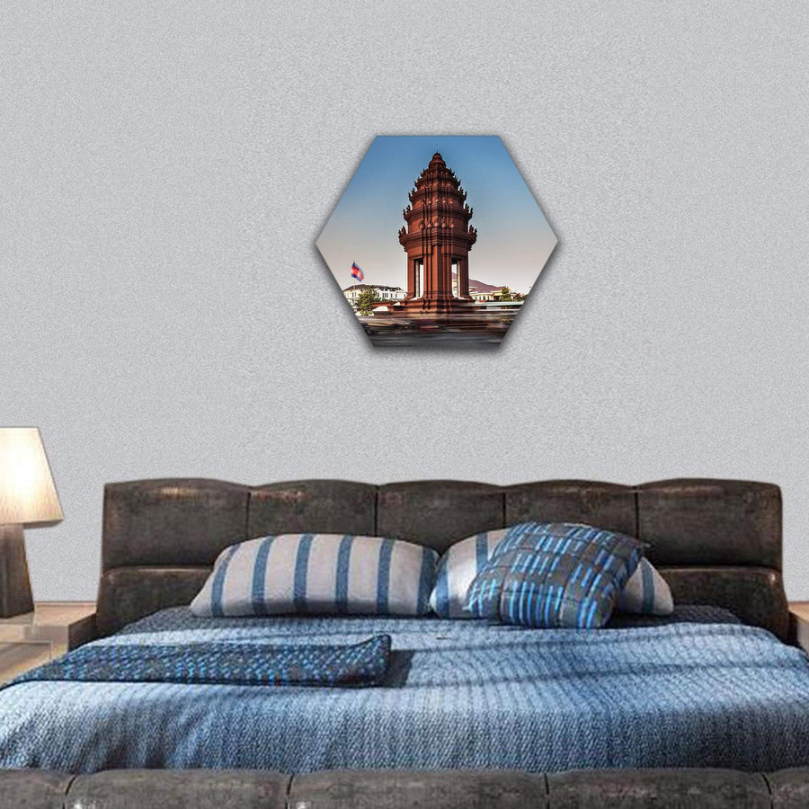 Independence Monument Hexagonal Canvas Wall Art Tiaracle