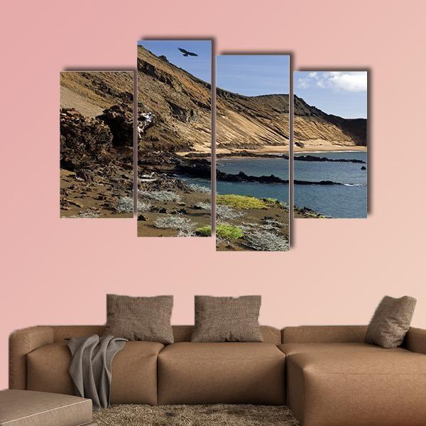 Island Of Bartolome In Ecuador Multi Panel Canvas Wall Art 3 Pieces / Small / Gallery Wrap Tiaracle