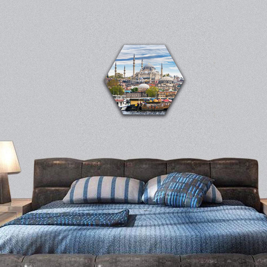 Istanbul The Capital Of Turkey Hexagonal Canvas Wall Art 7 Hexa / Small / Gallery Wrap Tiaracle