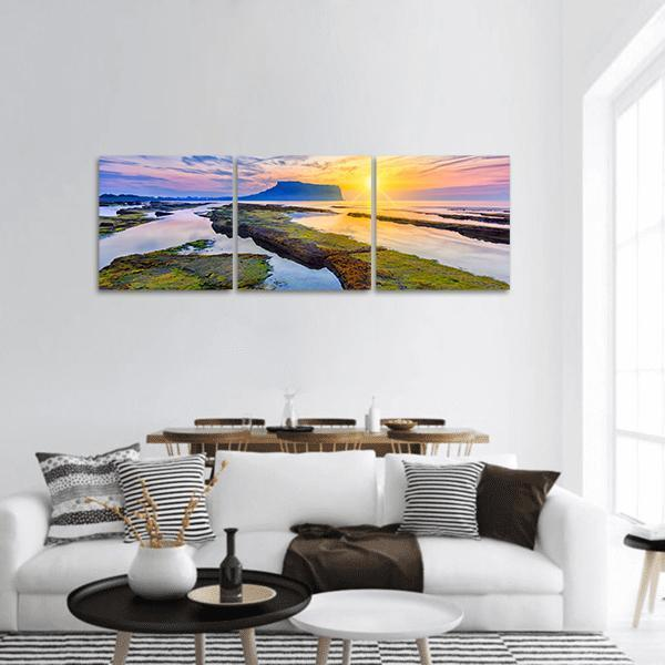 Jeju Island In South Korea Panoramic Canvas Wall Art 1 Piece / Small Tiaracle