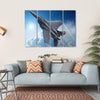 Jet Fighter Multi Panel Canvas Wall Art 4 Horizontal / Small / Gallery Wrap Tiaracle