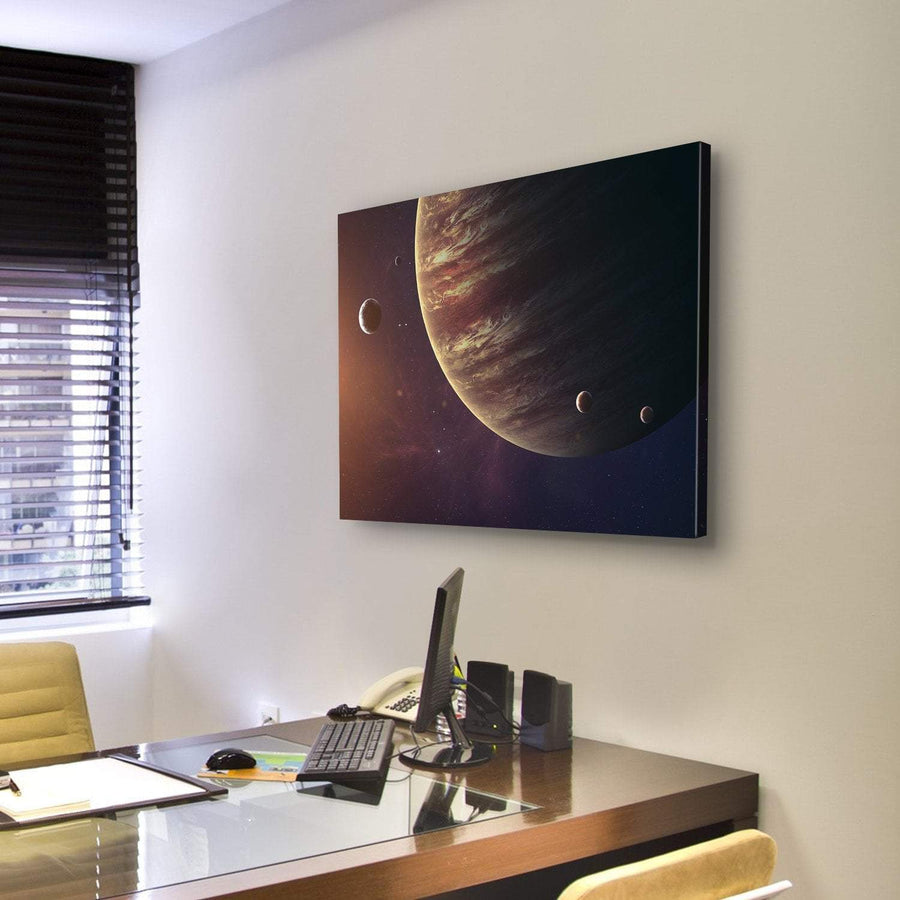 Jupiter With Its Moons Canvas Panel Painting Tiaracle