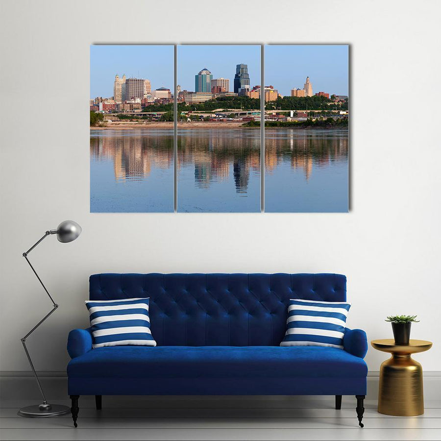 Kansas City Skyline Multi Panel Canvas Wall Art 4 Pieces / Medium / Canvas Tiaracle
