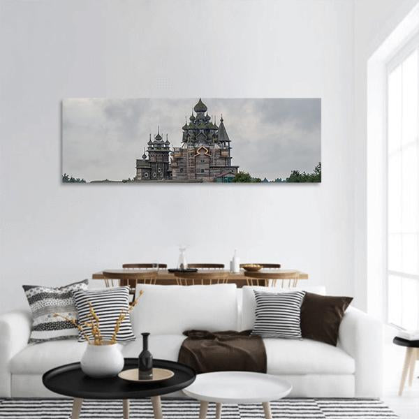 Kizhi Pogost Historical Church In Russia Panoramic Canvas Wall Art Tiaracle