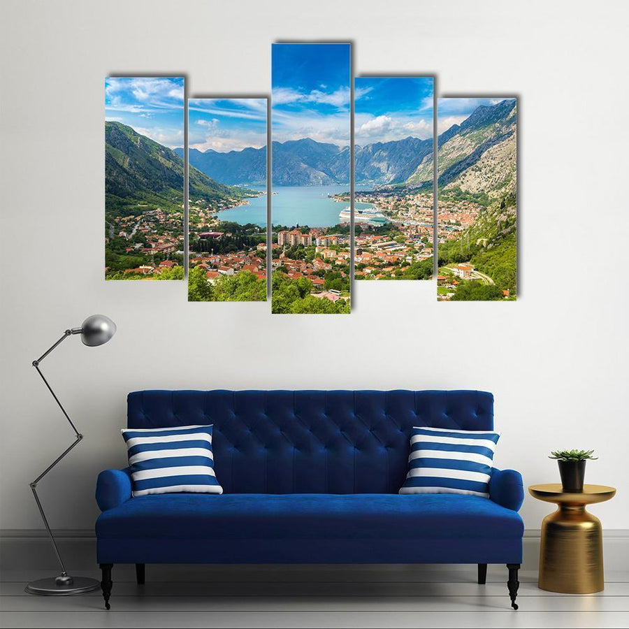 Kotor In A beautiful Summer Day Multi Panel Canvas Wall Art 5 Pieces(B) / Medium / Canvas Tiaracle