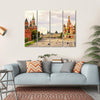 Kremlin & Cathedral Of St Basil Canvas Wall Art-4 Horizontal-Small-Gallery Wrap-Tiaracle