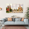 Kremlin & Cathedral Of St Basil Canvas Wall Art-5 Horizontal-Small-Gallery Wrap-Tiaracle