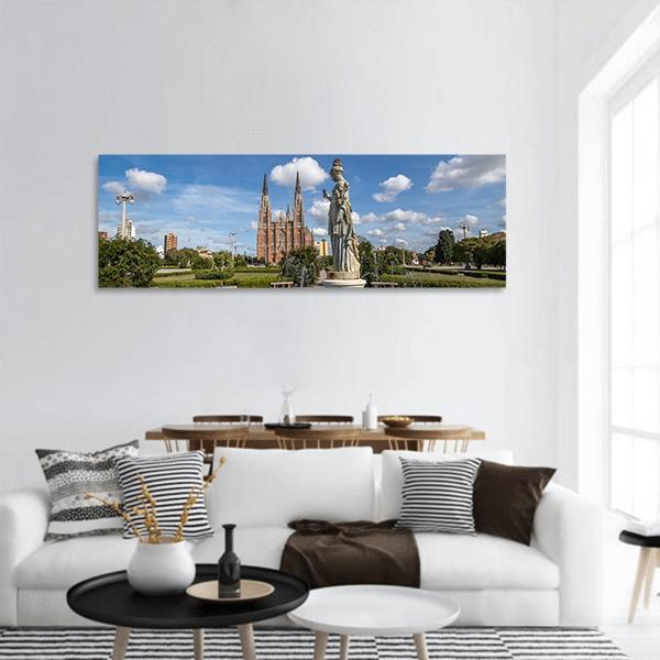La Plata Cathedral In Buenos Aires Panoramic Canvas Wall Art Tiaracle