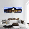 Lake Bled And Church In Slovenia Panoramic Canvas Wall Art Tiaracle