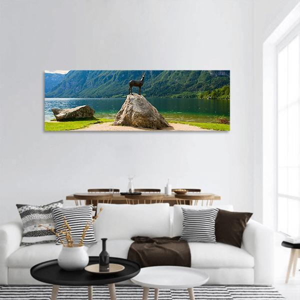 Lake Bohinj In Slovenia Panoramic Canvas Wall Art Tiaracle