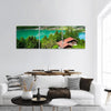 Lake Brienz In Switzerland Panoramic Canvas Wall Art 3 Piece / Small Tiaracle