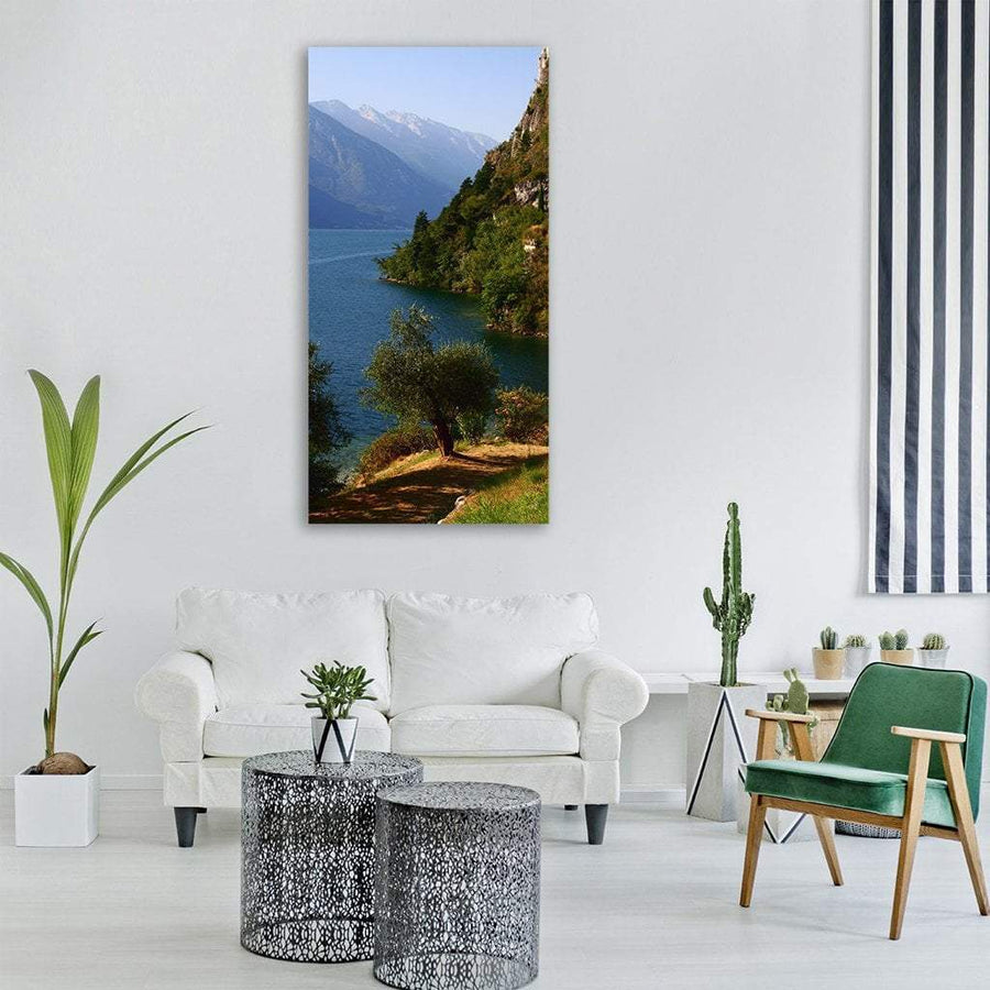 Lake Garda In Italy Vertical Canvas Wall Art 3 Vertical / Small / Gallery Wrap Tiaracle