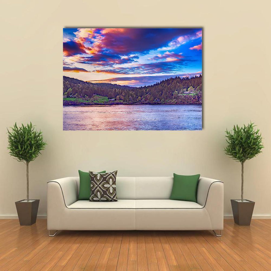 Lake In Georgia Canvas Wall Art-4 Horizontal-Small-Gallery Wrap-Tiaracle