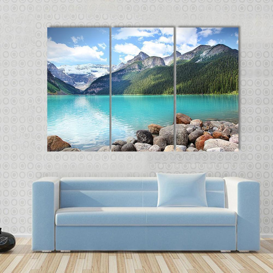 Lake Louise Located In The Banff National Park, Alberta, Canada Canvas Panel Painting Tiaracle