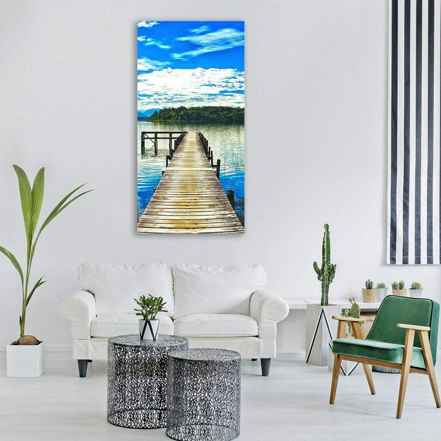 Lake Mahinapua In New Zealand Vertical Canvas Wall Art 3 Vertical / Small / Gallery Wrap Tiaracle